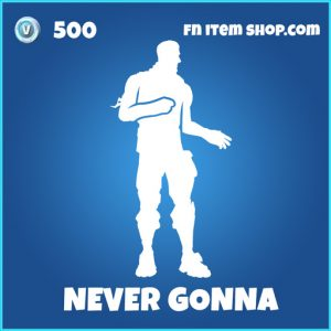Never Gonna give you up rick roll fortnite rare emote