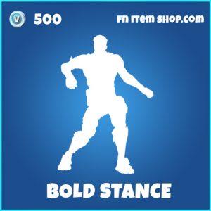 Bold Stance rare fortnite emote