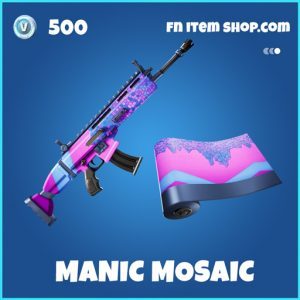 Manic Mosaic rare fortnite wrap
