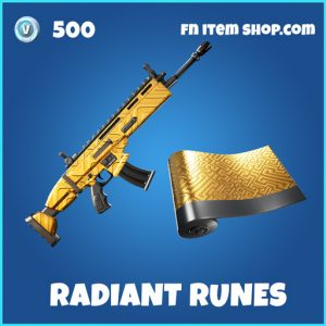 Radiant Runes rare fortnite wrap