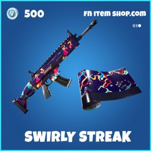 Swirly Streak rare fortnite wrap