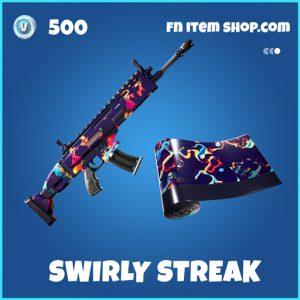 Swirly Streak rare fortnite wrap