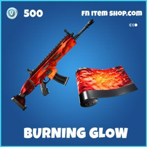 Burning Glow rare fortnite wrap