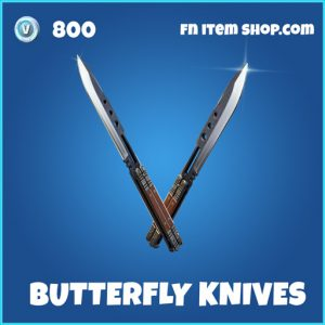 Butterfly Knives rare fortnite pickaxe