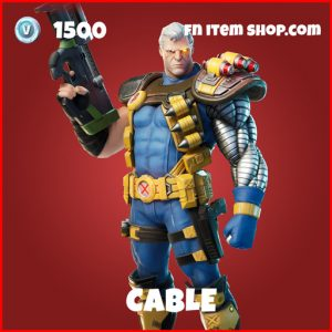 Cable epic fortnite marvel skin