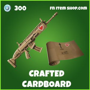 Crafted Cardboard uncommon fortnite wrap