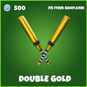 Double Gold uncommon fortnite pickaxe