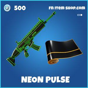 Neon Pulse rare fortnite wrap
