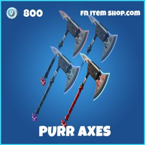 Purr Axes rare fortnite pickaxe