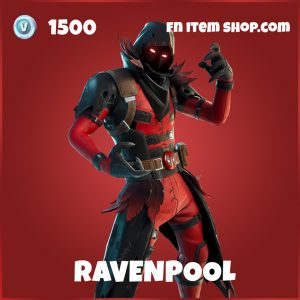 Ravenpool deadpool fortnite marvel skin