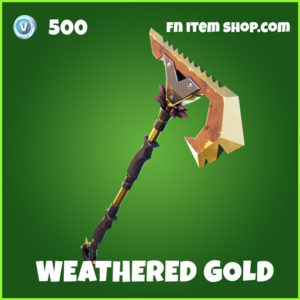 Weathered Gold uncommon fortnite pickaxe