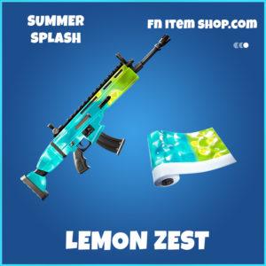 Lemon Zest Summer splash rare fortnite wrap