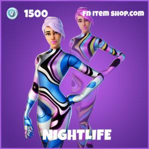 Nightlife fade fortnite epic skin