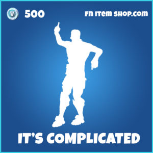 its It's Complicated rare fortnite emote