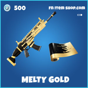 Melty Gold rare fortnite wrap