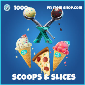 Scoops & Slices fortnite backbling and pickaxe bundle