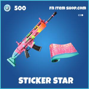 Sticker Star rare fortnite wrap