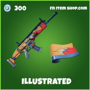 Illustrated fortnite wrap uncommon item
