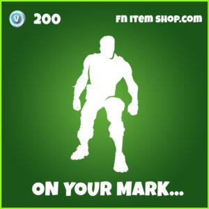 On Your Mark... fortnite emote uncommon item