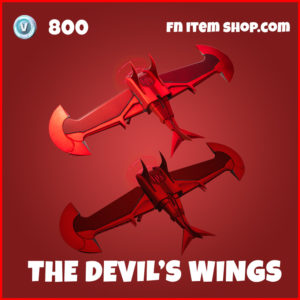 The Devil's Wings daredevil fortnite glider