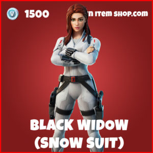 Black Widow Snow Suit Fortnite Skin