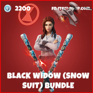 Black Widow (Snow Suit) Bundle Fortnite Skin