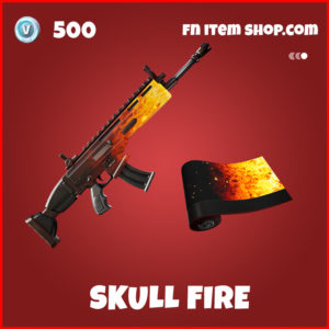 Skull Fire Emote Fortnite Ghost Rider Item
