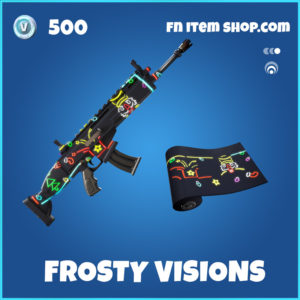 Frosty Visions rare fortnite wrap