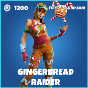 Gingerbread Raider rare fortnite skin