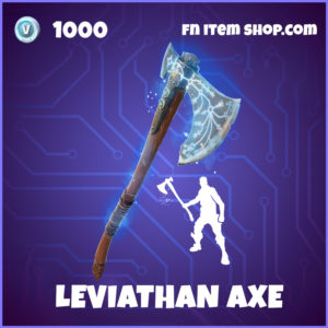 Leviathan Axe Kratos Fortnite pickaxe and emote