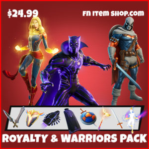 Marvel Royalty & Warriors Pack Captain Marvel, Black Panther and Taskmaster Fortnite Skin