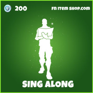 Sing Along uncommon fortnite emote