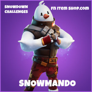 Snowmando epic Fortnite Skin