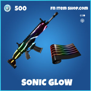 Sonic Glow rare fortnite wrap