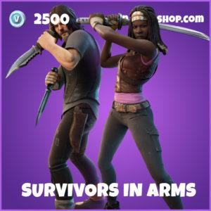Suvivors in Arms The Walking Dead Fortnite Skin Bundle