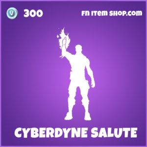 Cyberdune Salute Fortnite Terminator Emote