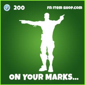 On Your Marks... Fortnite Emote