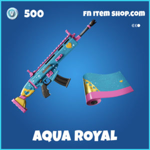 Aqua Royal Fortnite Wrap
