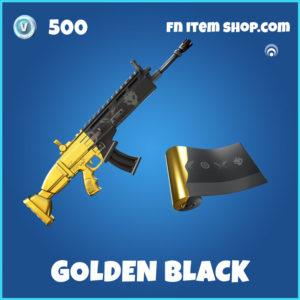 Golden Black Fortnite Wrap