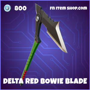 Delta Red Bowie Blade Fortnite Street Fighter Harvesting Tool