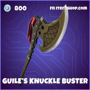 Guile's Knuckle Buster Fortnite Street Fighter Harvesting Tool